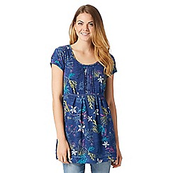 Mantaray - Blue underwater print tunic