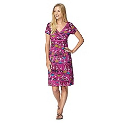 Mantaray - Dark pink tulip print dress