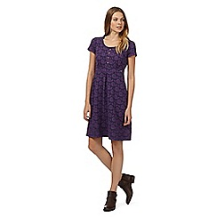 Mantaray - Purple jacquard floral dress