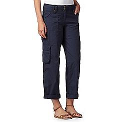 Mantaray - Navy roll cuff cargo trousers