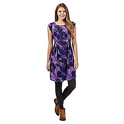 Mantaray - Print and embroidered leaf dress