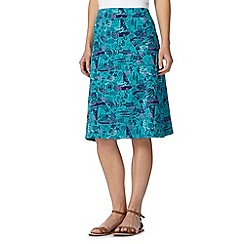 Mantaray - Aqua underwater print skirt