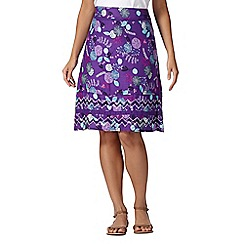 Mantaray - Purple sea urchin print woven skirt