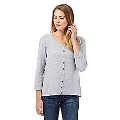 Mantaray - Grey cashmere blend swing cardigan