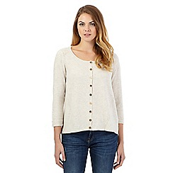Mantaray - Cream cashmere blend swing cardigan