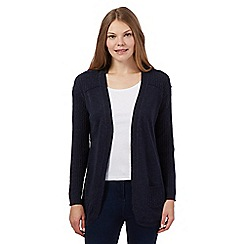 Mantaray - Navy cable knit cashmere blend cardigan