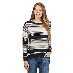 Mantaray - Navy cashmere-blend striped jumper