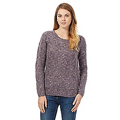 Mantaray - Purple cable knit jumper