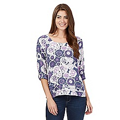 Mantaray - Purple circle print top