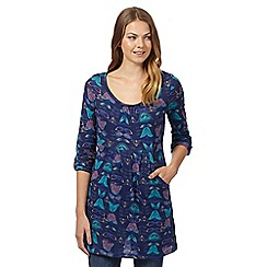 Mantaray - Dark blue winter tulip printed tunic