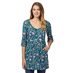 Mantaray - Dark green floral print tunic
