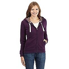 Mantaray - Purple zipped sweat hoodie
