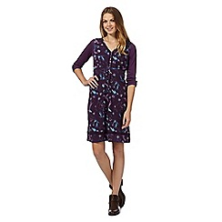 Mantaray - Purple 2-in-1 bird dress and top