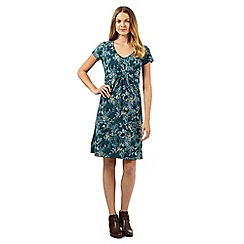 Mantaray - Green flower print dress
