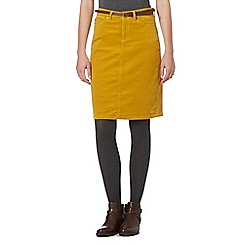 Mantaray - Yellow cord skirt