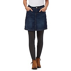 Mantaray - Dark blue denim mini skirt