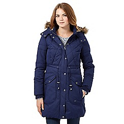 Mantaray - Dark blue padded coat