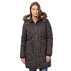 Mantaray - Grey quilted coat