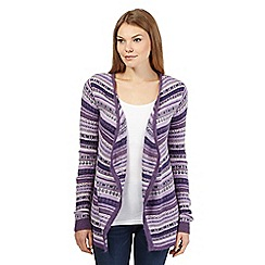 Mantaray - Purple striped Fair Isle cardigan