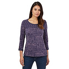 Mantaray - Purple fern print top