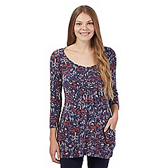 Mantaray - Navy reindeer print tunic