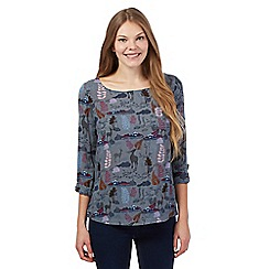Mantaray - Grey forest scene shell top