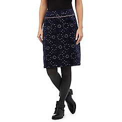 Mantaray - Navy floral skirt