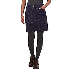 Mantaray - Purple leaf mini cord skirt