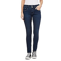 Mantaray - Blue skinny raw jeans