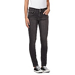 Mantaray - Grey raw lift & shape skinny jeans
