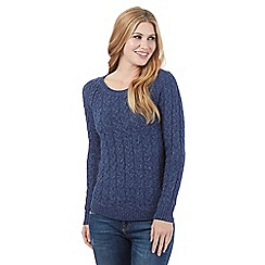 Mantaray - Navy chunky cable knit jumper