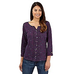 Mantaray - Purple bauble print jersey shirt