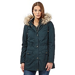 Mantaray - Turquoise plain parka jacket