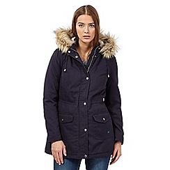Mantaray - Navy plain parka jacket