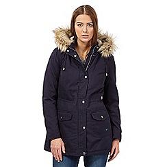 Mantaray - Navy plain parka jacket