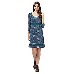 Mantaray - Green printed jersey dress