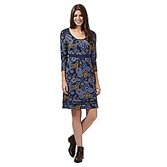 Mantaray - Navy printed jersey dress