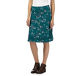Mantaray - Green floral jersey skirt