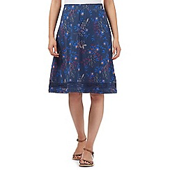 Mantaray - Dark blue floral jersey skirt
