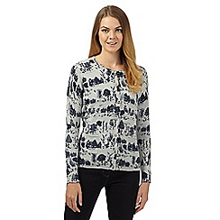 Mantaray - Grey village scene cardigan