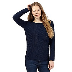 Mantaray - Navy textured knit jumper