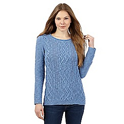 Mantaray - Blue textured knit jumper