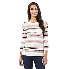 Mantaray - Ivory striped knit jumper