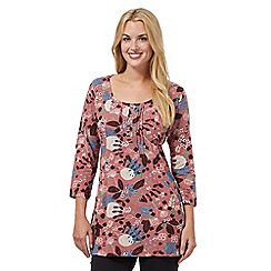Mantaray - Dark pink flower tunic