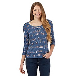 Mantaray - Blue 'Honeypot' printed top