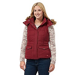 Mantaray - Wine hooded gilet