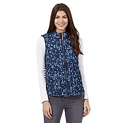 Mantaray - Blue printed gilet
