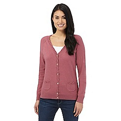 Mantaray - Dark pink V neck cardigan