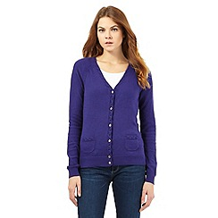 Mantaray - Blue V neck cardigan