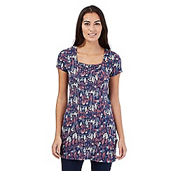 Mantaray - Navy leaf print tunic